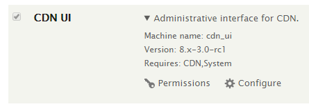 Administrative interface for CDN Configure
